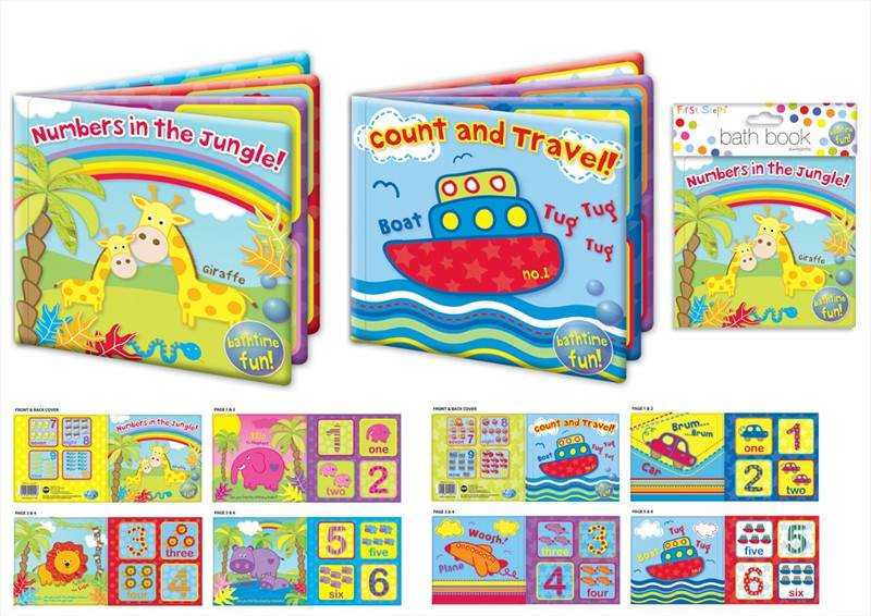BUY-1-GET-1-FREE-PLASTIC-COATED-BABY-BATH-BOOK-KIDS-CHILDREN-2-DESIGNS-TOY