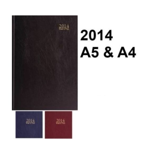 2014-ORGANISER-SCHOOL-PADDED-DIARY-CALENDAR-A4-A5-Week-Day-to-View-GOOD-PAPER