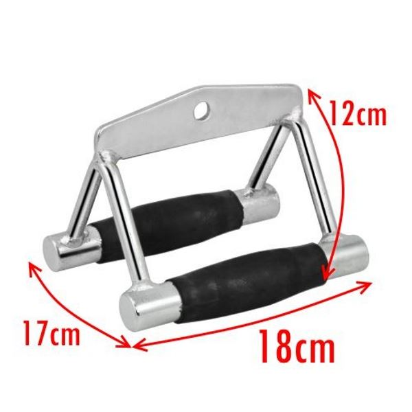 Gym Attachments Row Cable Tricep Rope Bar Twin Revolving Handle Pull Down Seated