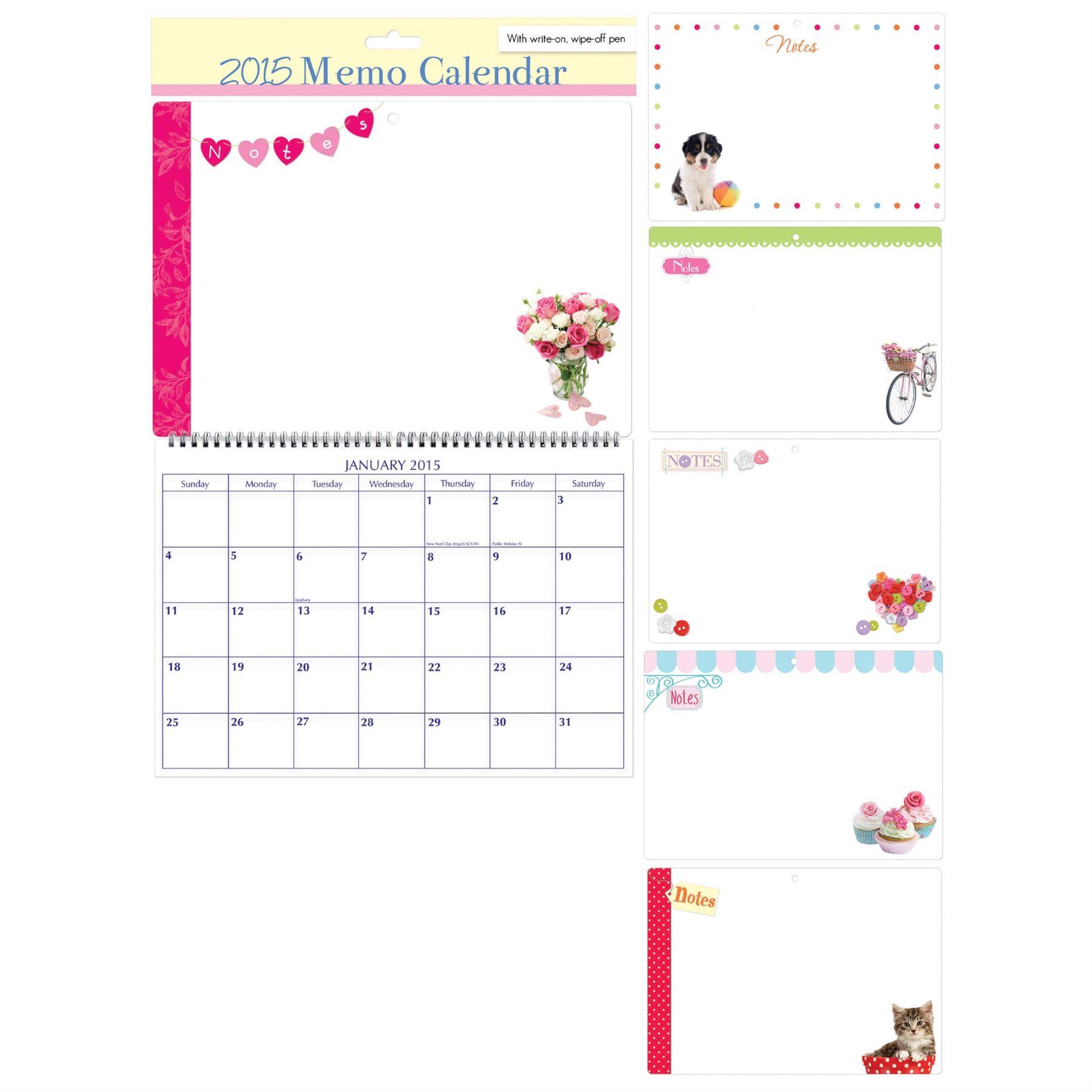 Kids Wall Calendar : Memo wall calendar wipeable board pen notes kids