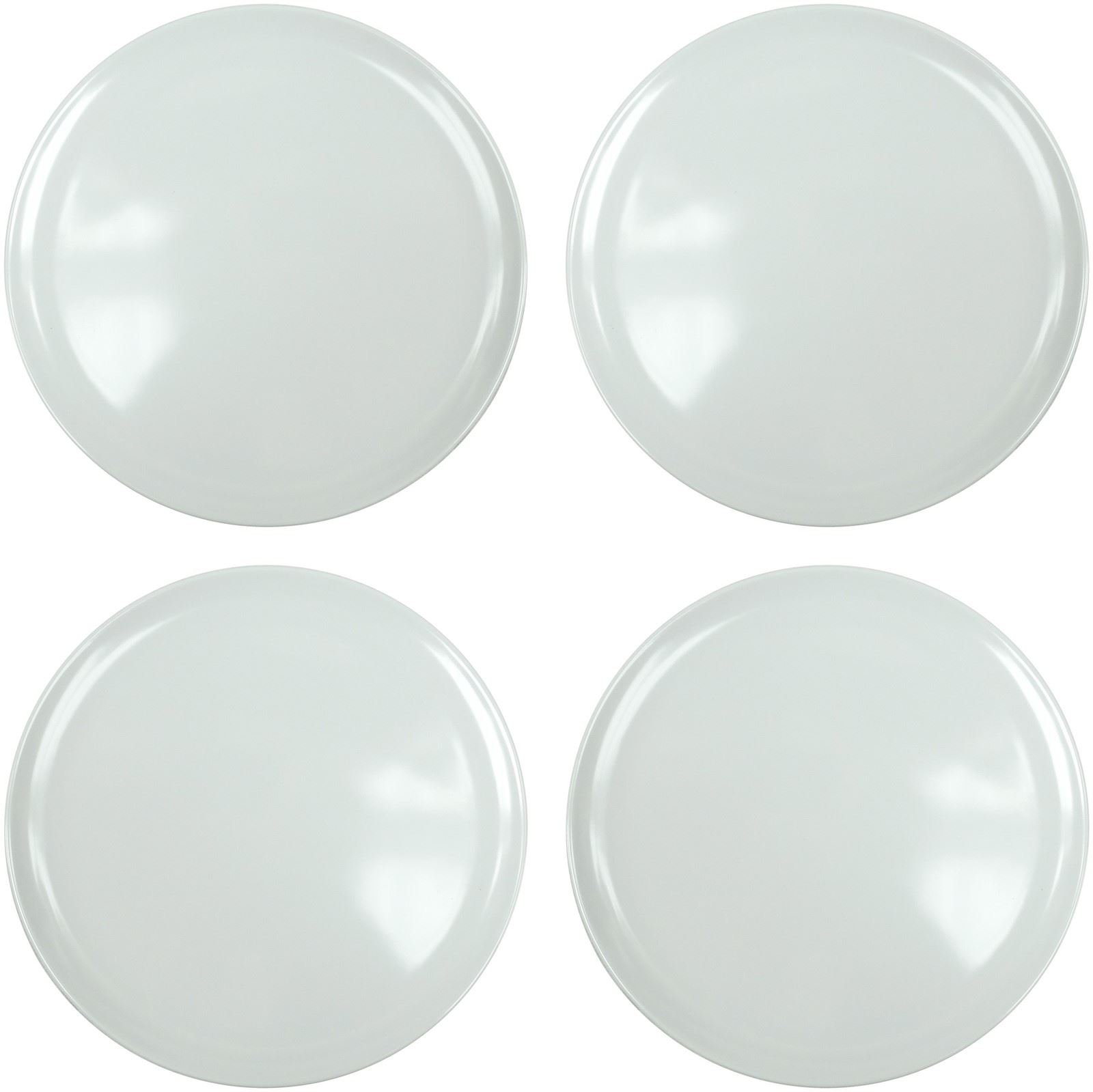 4 x strong plastic dinner plates reuseable dishwasher for How strong is acrylic glass