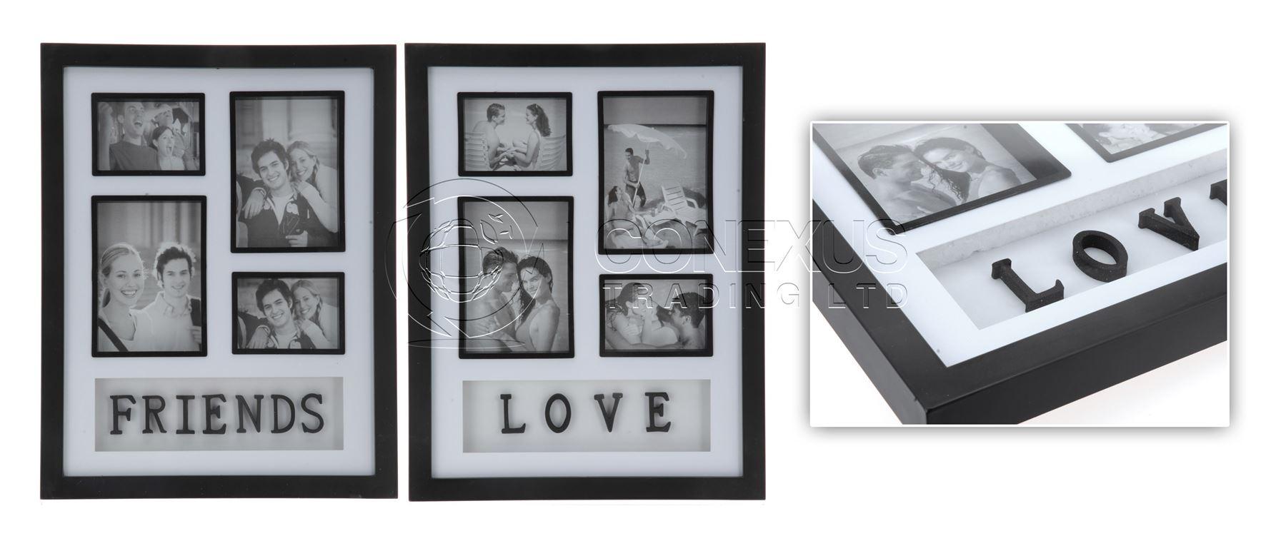 black photo frames multiple photos 65000 personalized photo frames photo frames multi picture gallery craft decoration - Multiple Image Frame