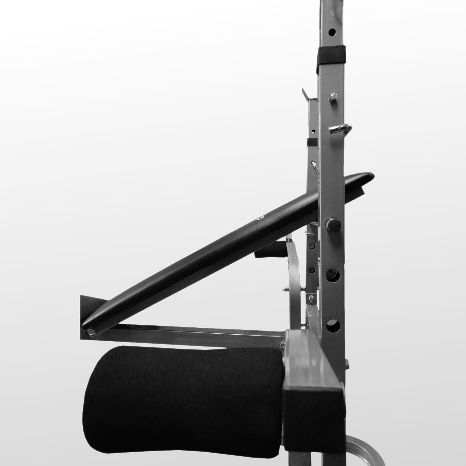 Bodyrip Folding Weight Bench Amp 80kg Barbell Set Gym