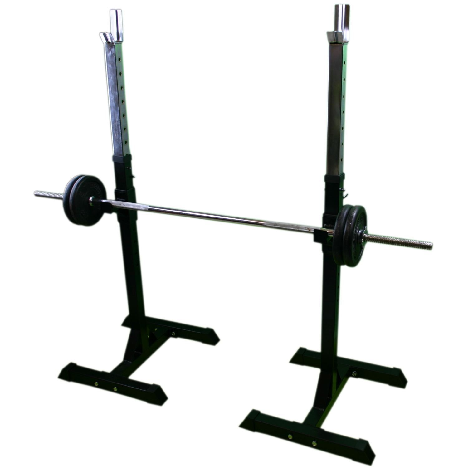 Bodyrip Adjustable Barbell Stand Squat Rack Weight Fitness Gym Training Ebay