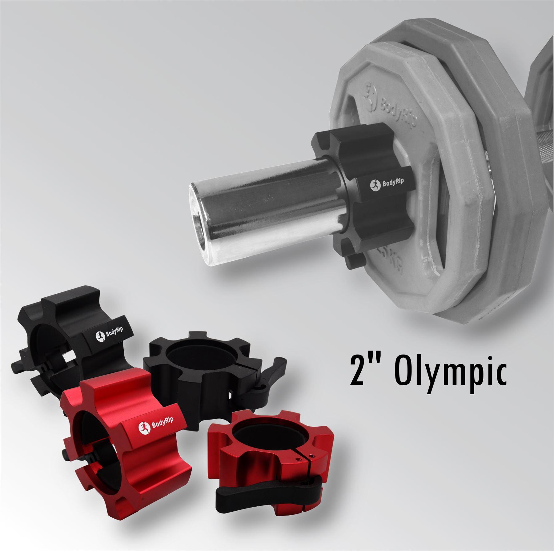 bodyrip olympische 2 stern kragen hantel klemmen aluminium schl sser paar ebay. Black Bedroom Furniture Sets. Home Design Ideas