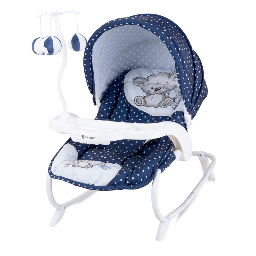 New Baby Swinging Bouncer Chair Rocker Hood Canopy Toybar ...
