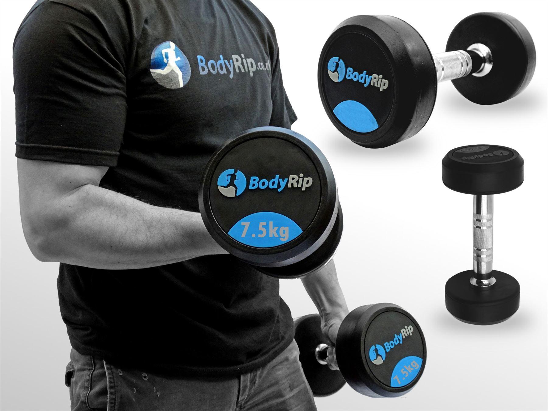 BodyRip Fixed Weights Weight Strength Lifting Dumbbell Gym Set 2.5kg-30kg eBay