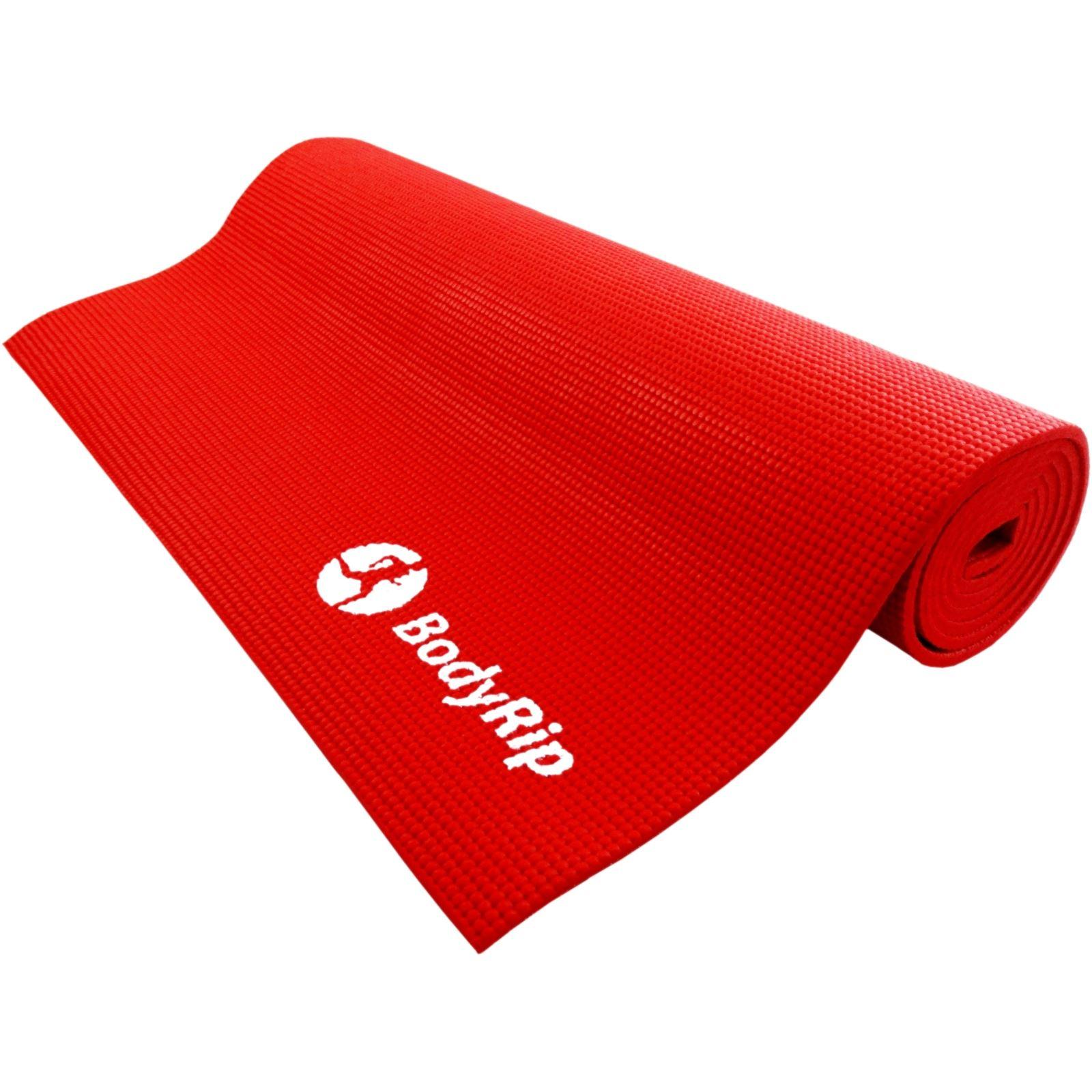 Bodyrip Red Thick Foam Yoga Pilates Gym Mat 6mm Exercise