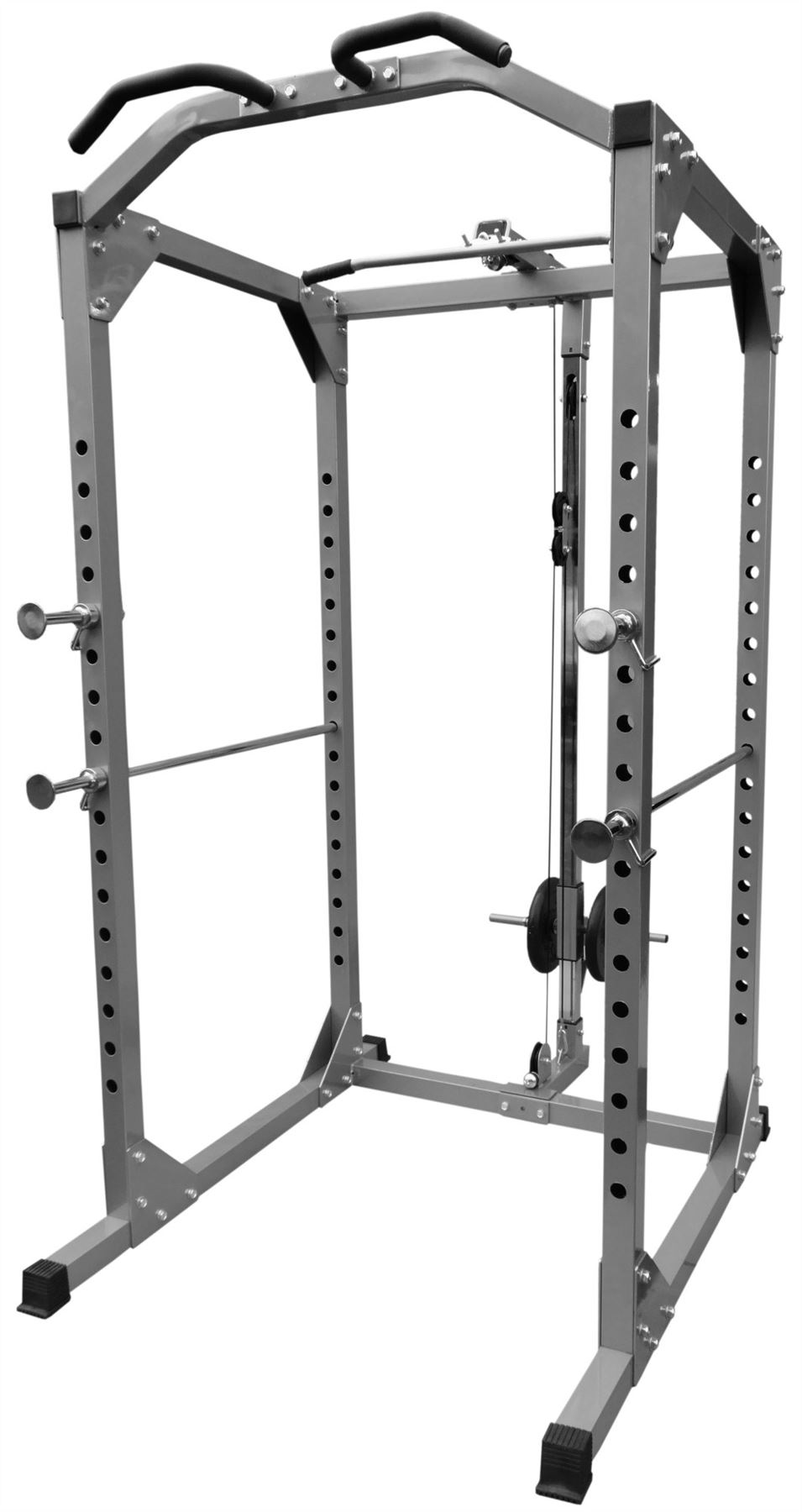 bodyrip heavy duty solid power rack squat gym cage pull. Black Bedroom Furniture Sets. Home Design Ideas
