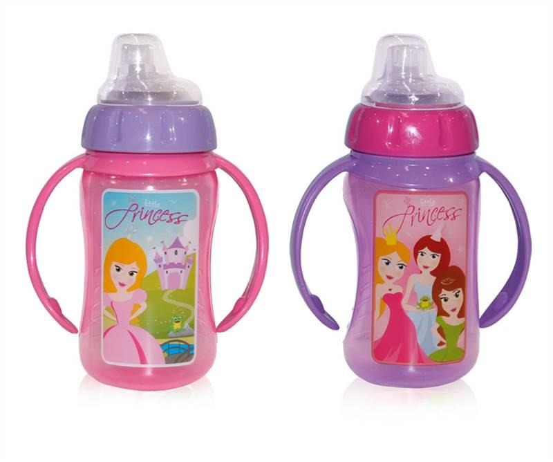 Squishy Baby Bottles : BABY CHILD NON SPILL TRAINER TRAINING BOTTLE HANDLES BOY GIRL SOFT SPOUT eBay