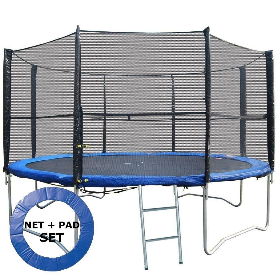 Bodyrip Trampoline Pad Safety Net Set 14ft Replacement