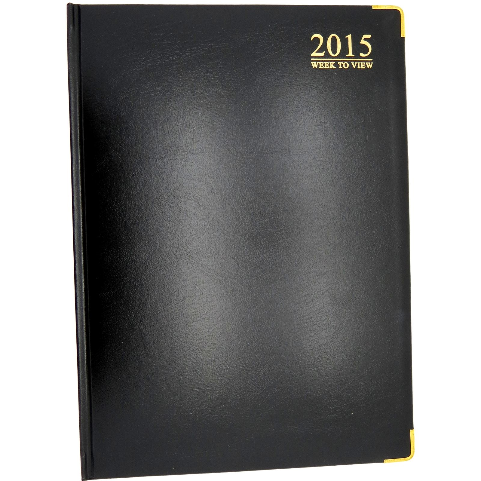 WEEK-TO-VIEW-CORNER-GILT-EDGED-PADDED-DIARY-CALENDAR-2015-ORGANISER-A5-A4-SIZE