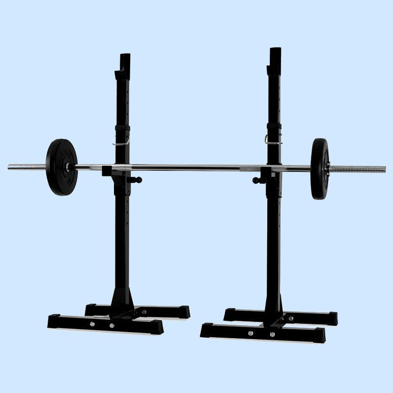 New Gym Squat Barbell Power Rack Stand Adjustable Press Weight Bench Ebay