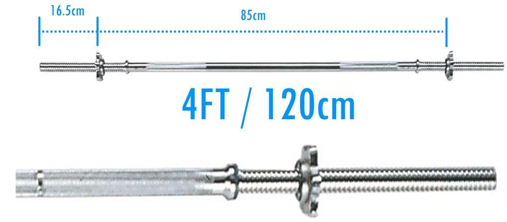 Wide Range Barbell Bars 1 Inch Standard 4ft
