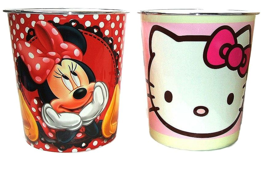 BUY-3-GET-1-FREE-MINNIE-MOUSE-HELLO-KITTY-WASTE-RUBBISH-BIN-TRASH-BUCKET-CAN