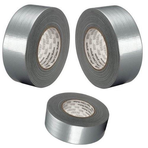 BUY-1-GET-1-FREE-SILVER-GAFFA-GAFFER-DUCT-TAPE-50mm-x-25m-ADHESIVE-WATERPROOF