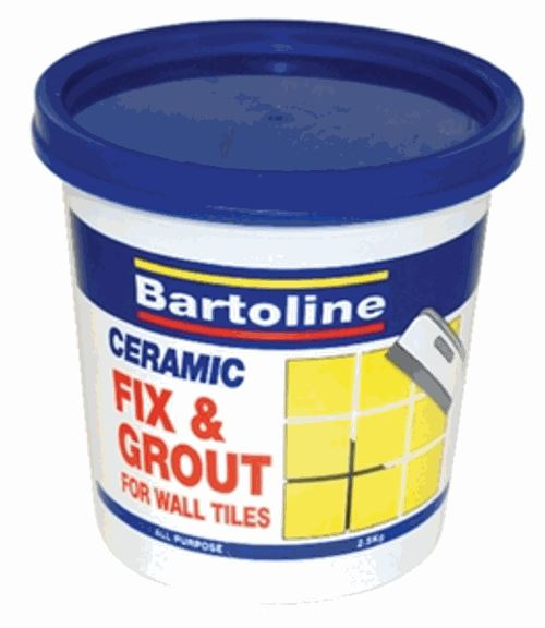Bathroom Tile Adhesive And Grout: ADHESIVE FIX & GROUT 0.5kg CERAMIC TILES WOOD HOME