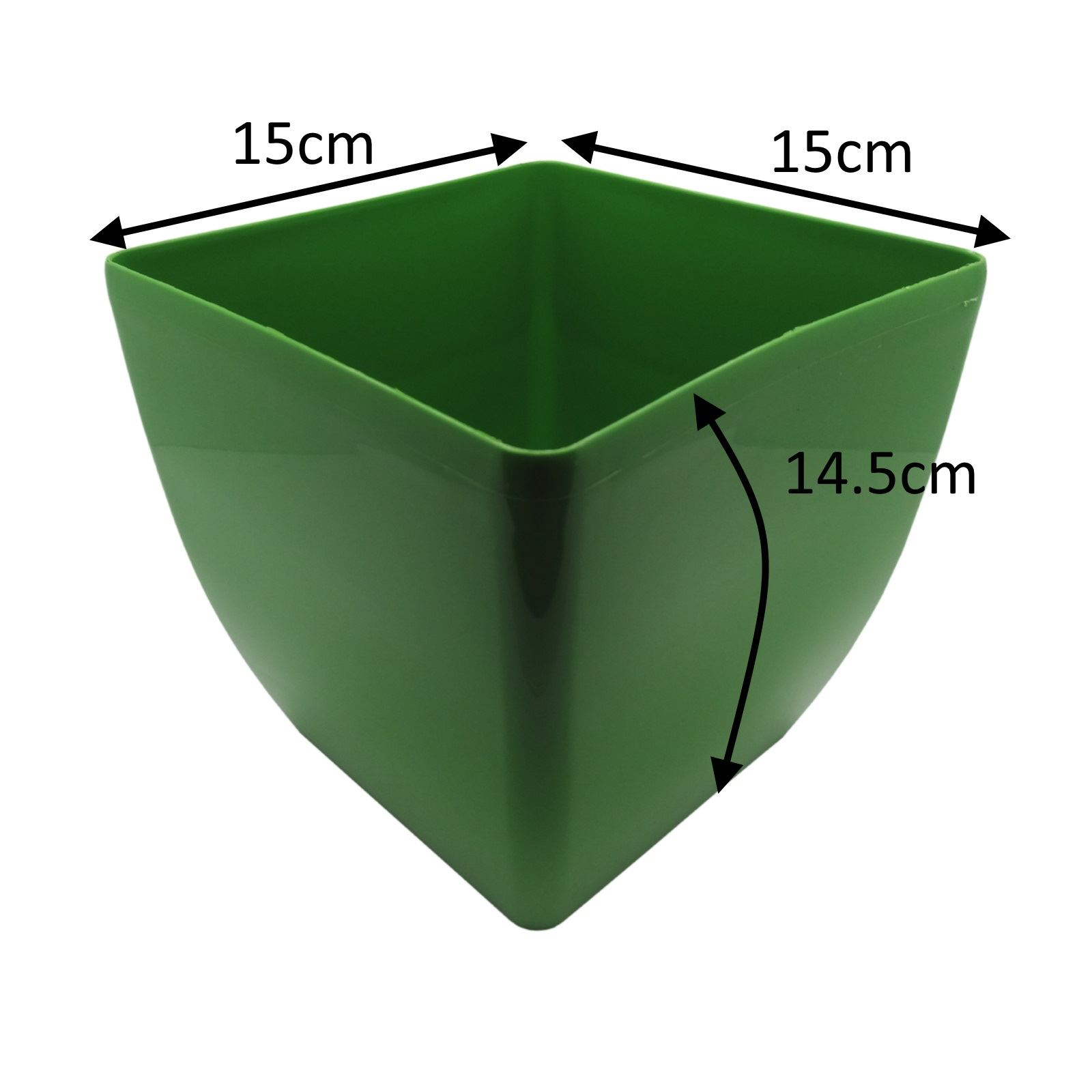 Strong plastic square plant flower weed cactus pots in for How strong is acrylic glass