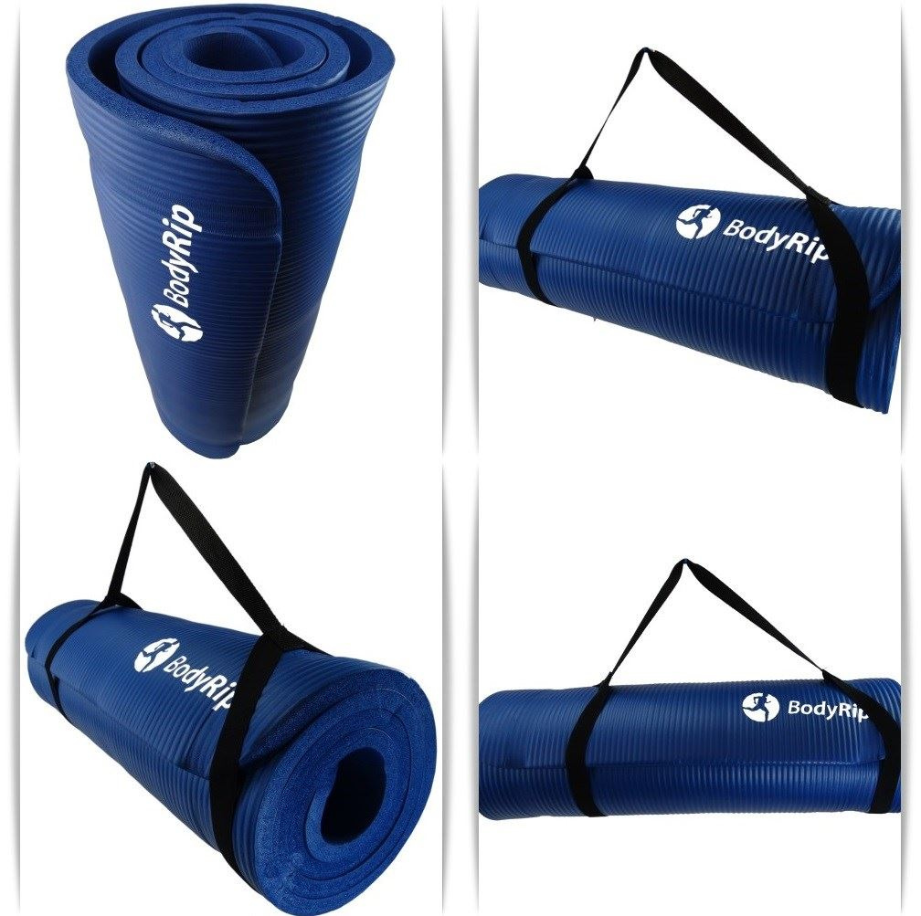 BodyRip EXERCISE TRAINING NBR BLUE YOGA MAT 15mm WITH