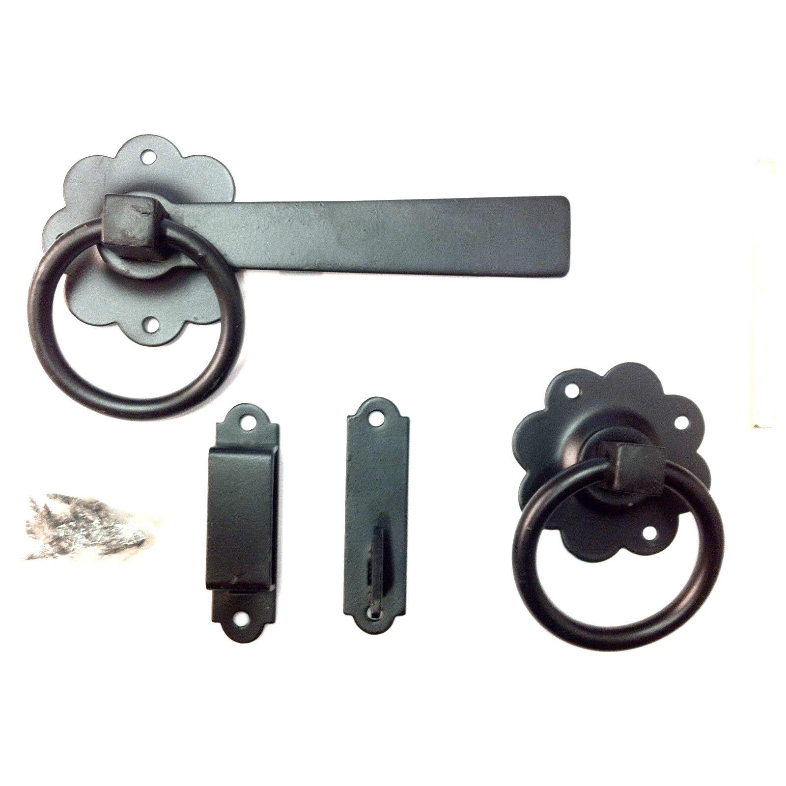 BUY 3 GET 1 FREE GARDEN RING GATE DOOR LATCH HANDLE BLACK ...