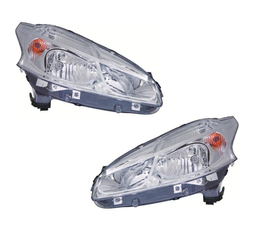 Peugeot 208 Hatchback 2012- Headlights Headlamps Chrome