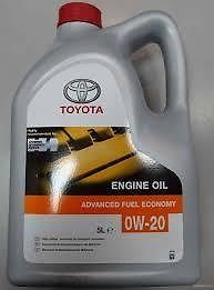 Genuine 5 Litre Toyota Hybrid 0w20 Synthetic Motor Oil