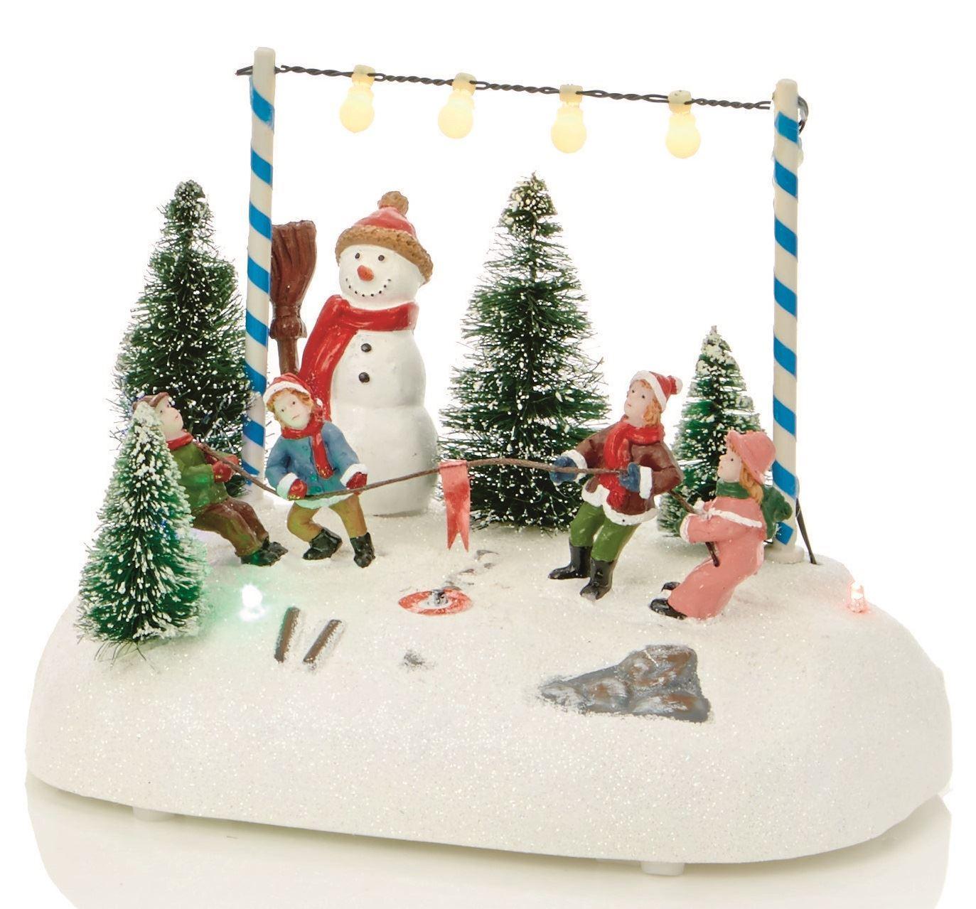 LIGHT UP 15cm Cute Christmas VILLAGE Scene DECORATION