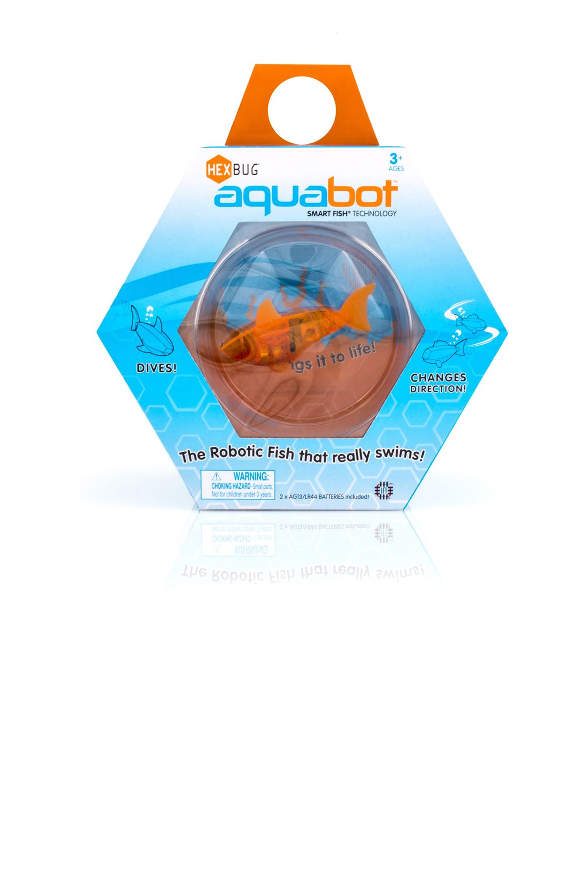 Hexbug Aquabot With Bowl Orange Shark