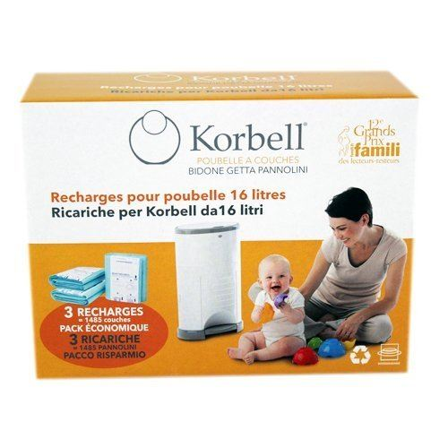 Korbell Nappy Bin Liner Refill 16l 3-pack #141757