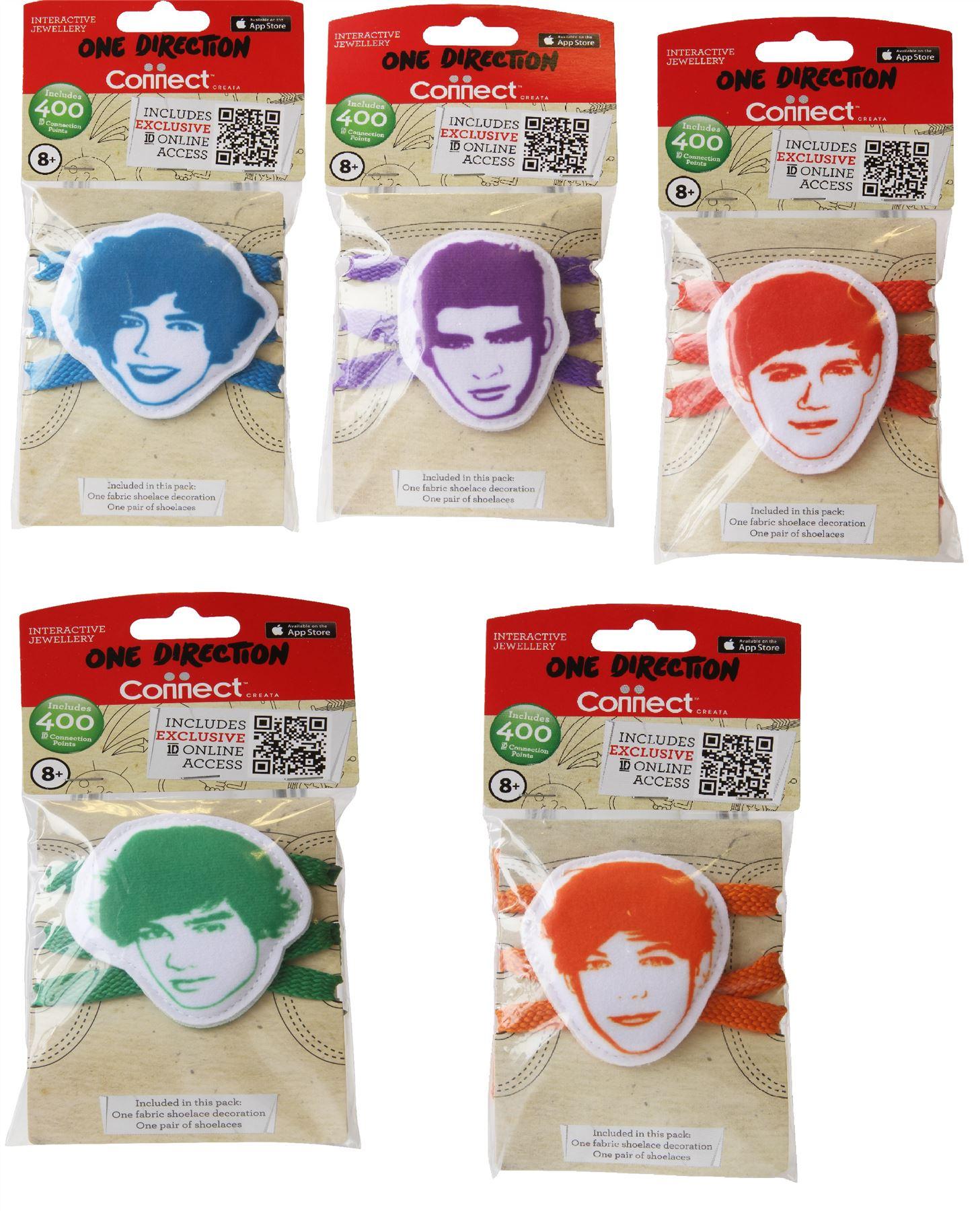 One Direction Fabric Shoelace Bundle 5 Item Bundle