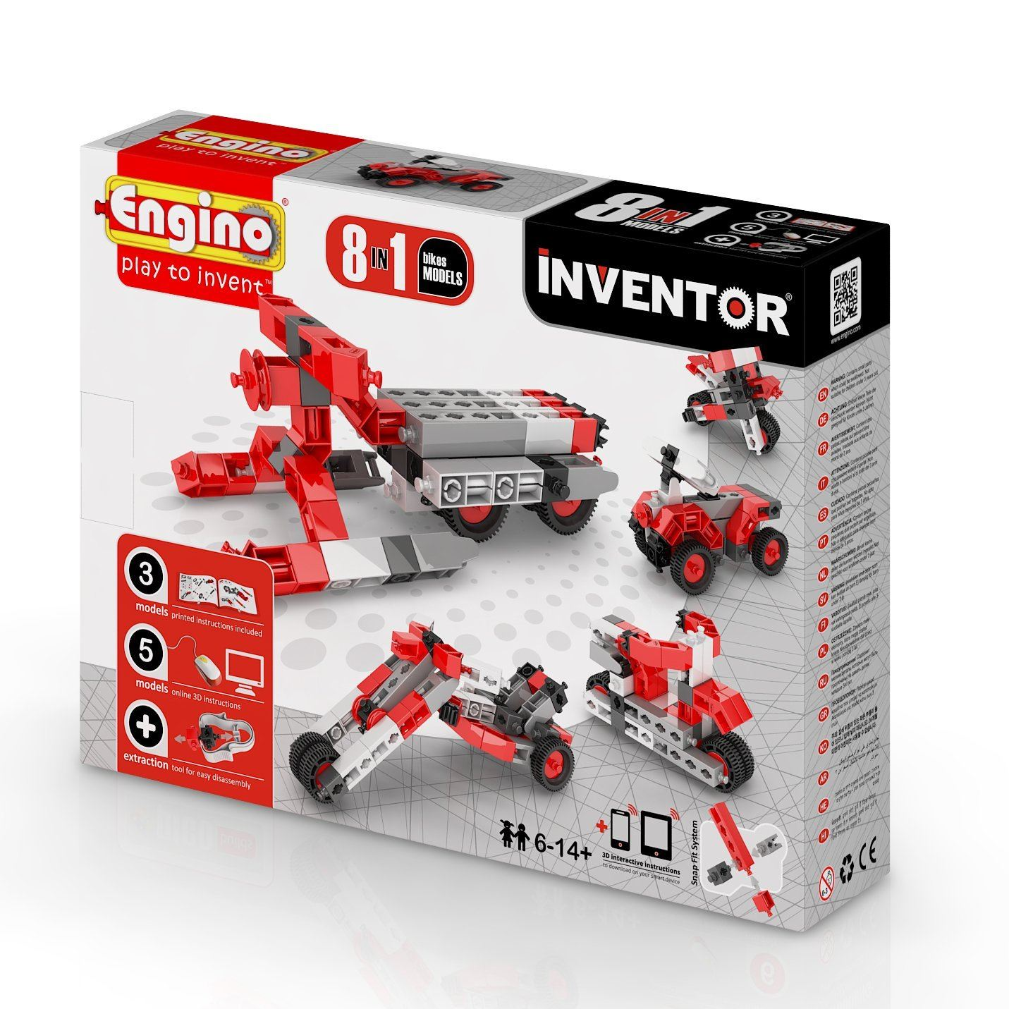 Engino Inventor 8 In 1 Bikes Pack #0832