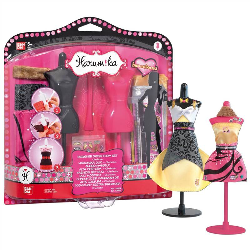 Harumika designer dress form set girls dress making for Fashion designer craft sets