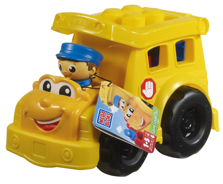 Mega Bloks First Builders Lil Vehicle Sonny School Bus