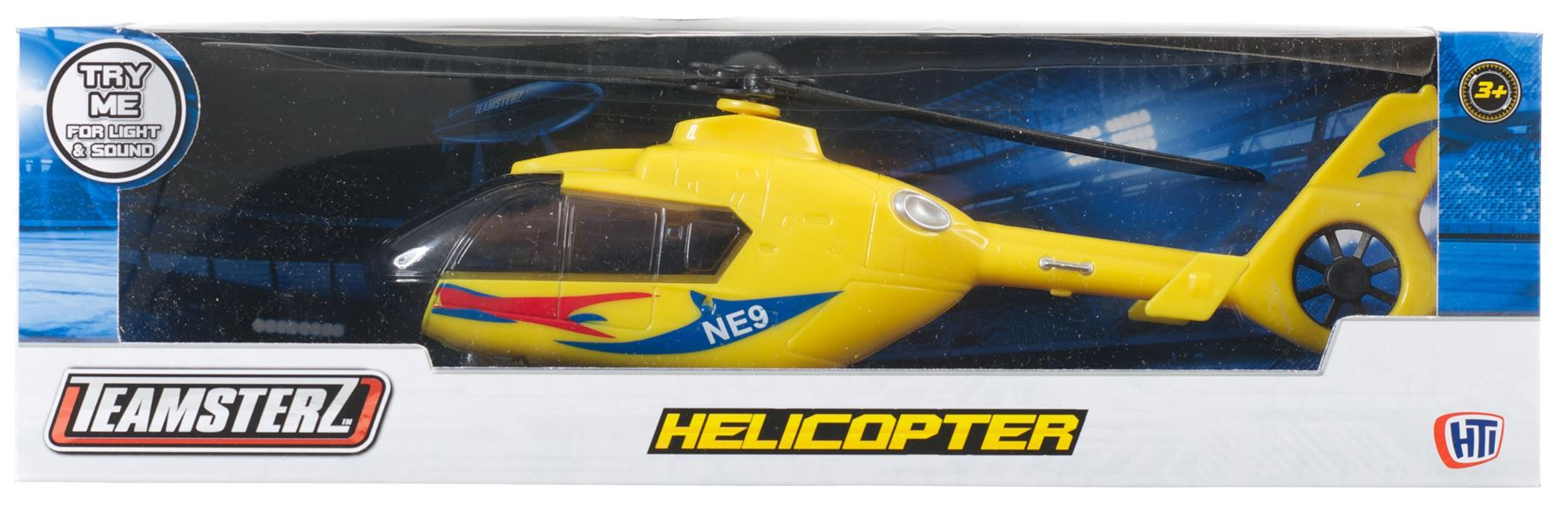 Teamsterz Helicopter With Light And Sound Yellow