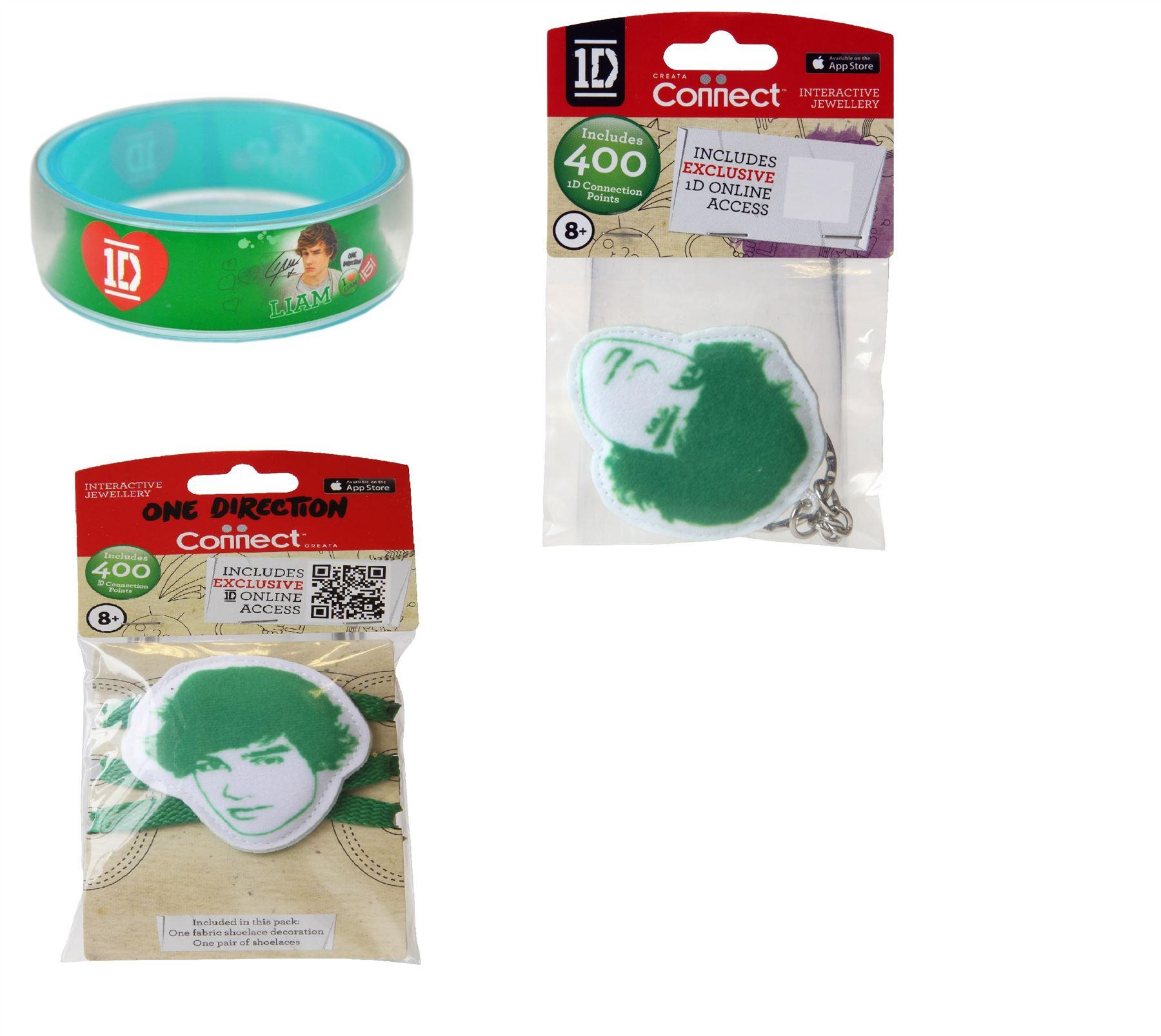 One Direction Liam Bundle, 1 Bangle, 1 Keyring & 1 Shoelace 3 Item Bundle