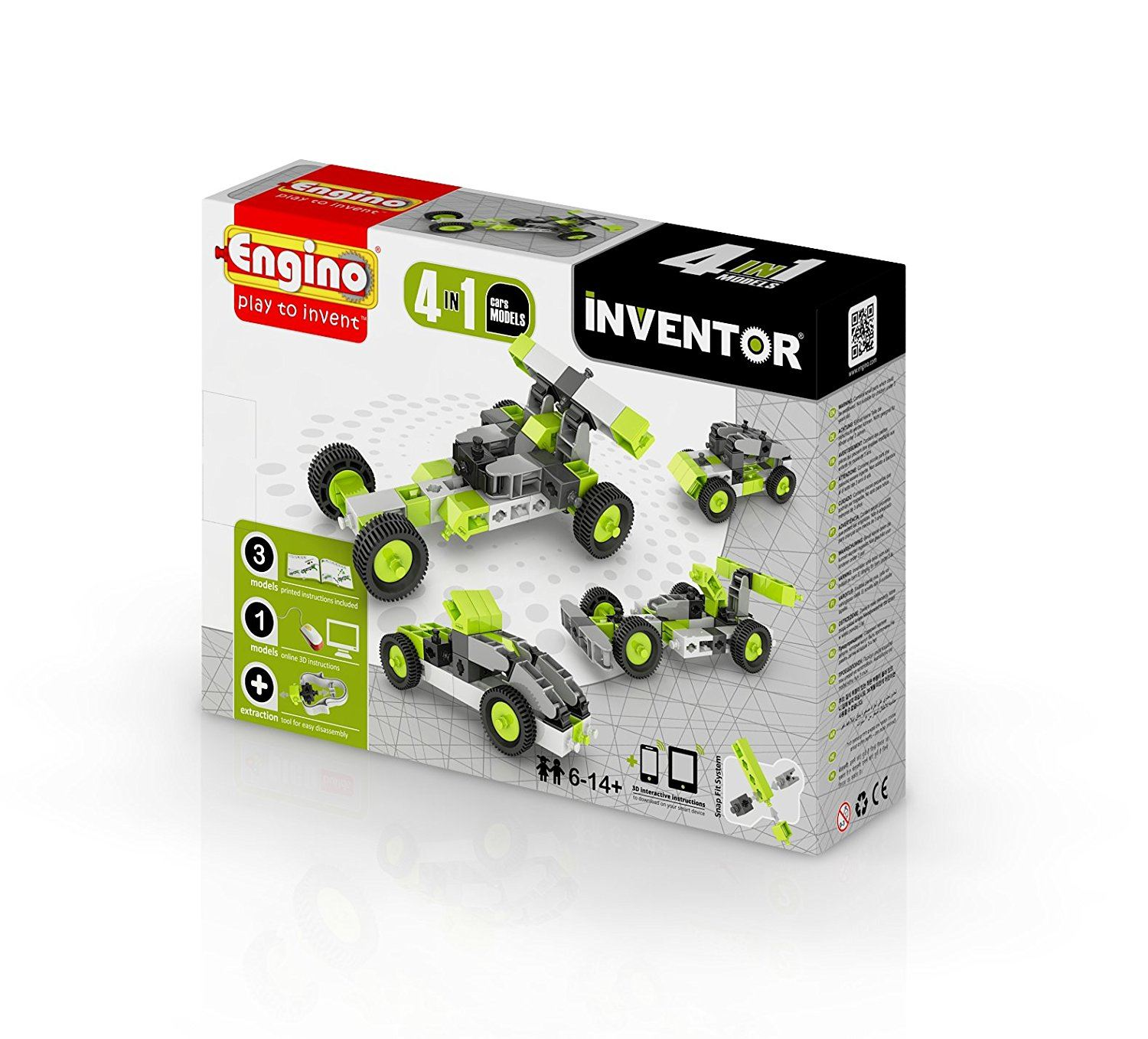 Engino Inventor 4 In 1 Model Car #0431