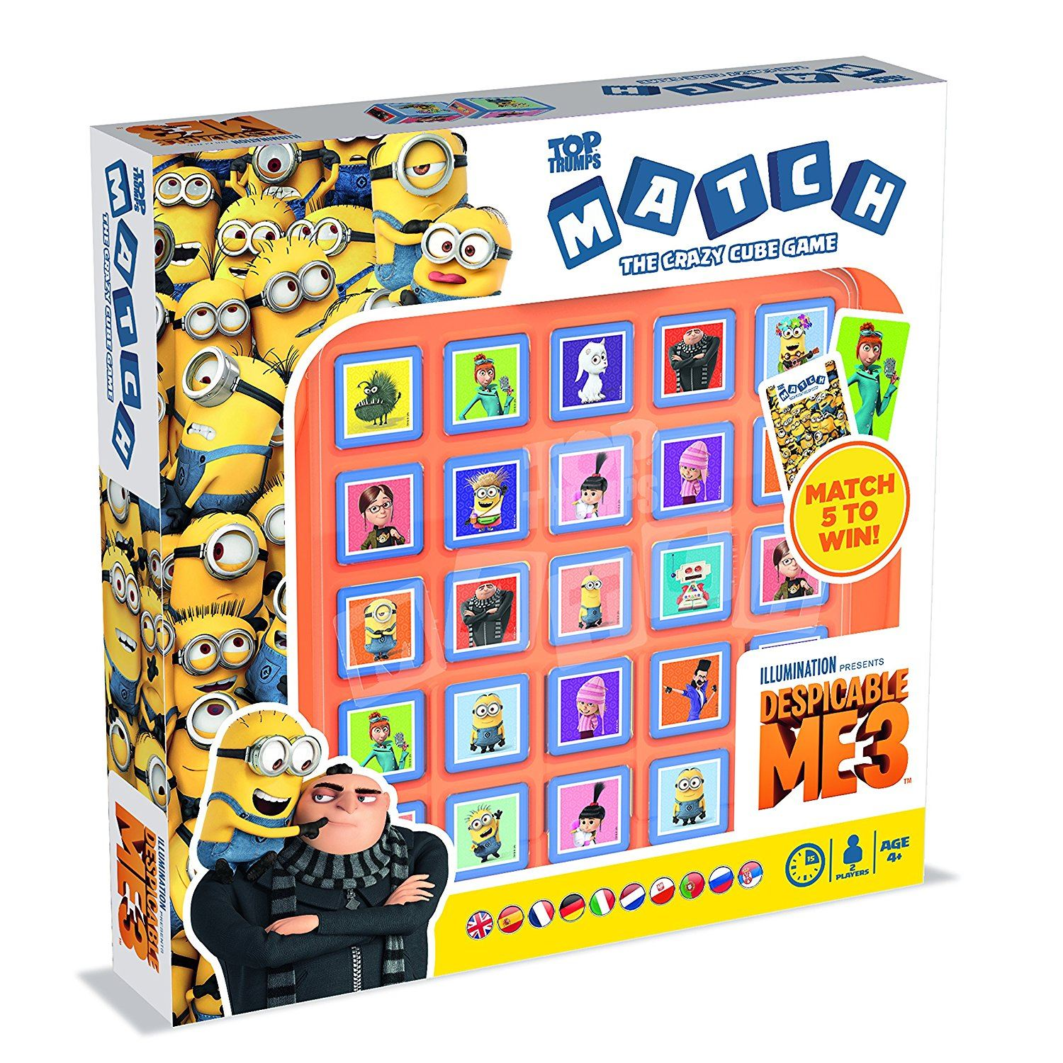 Despicable Me 3 Top Trumps Match Crazy Cube Game #001717