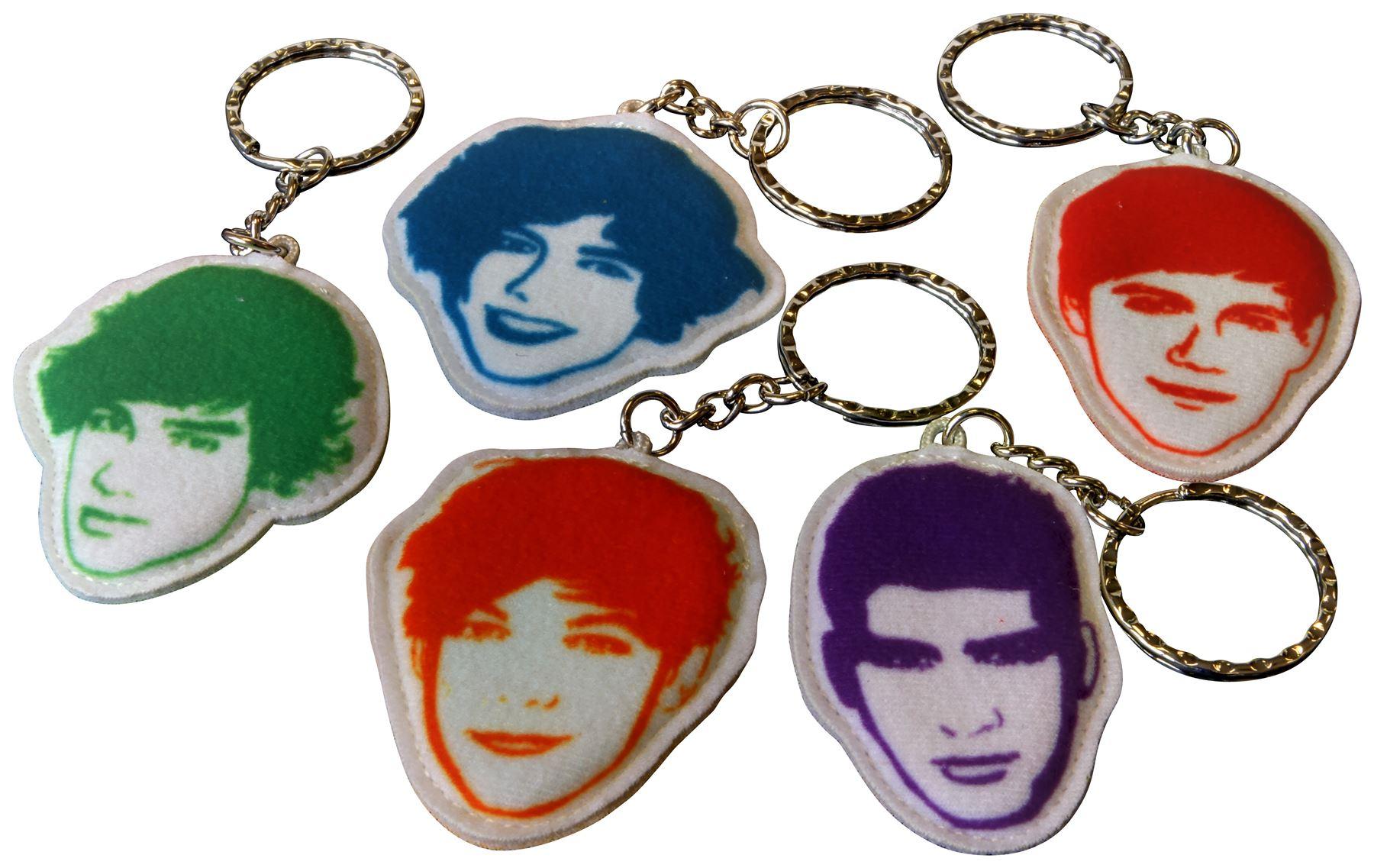 One Direction Fabric Keyring Bundle Harry, Liam, Niall, Louis, Zayn 5 Item Bundle