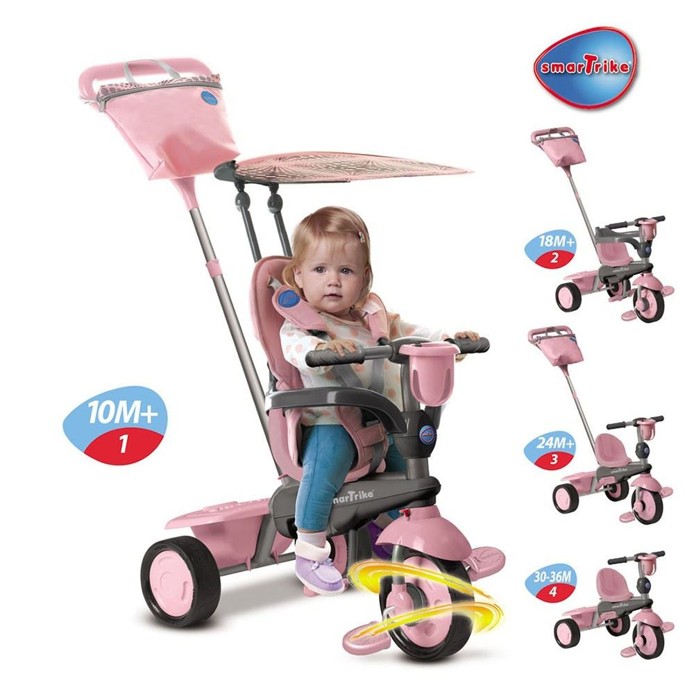 Mookie Smart Trike SPIRIT Pink, Blue OR Green 4 in 1 Trike 10-36 Mths NEW | eBay