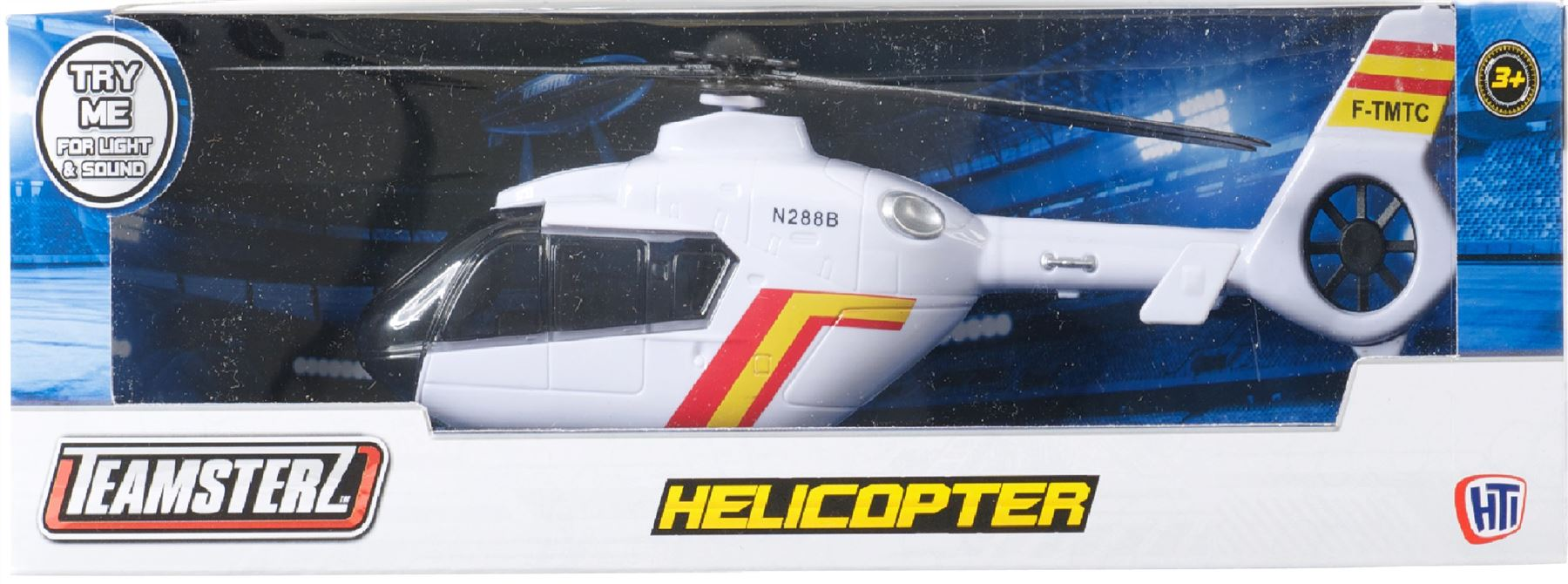 Teamsterz Helicopter With Light And Sound White