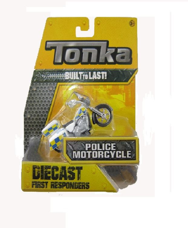 Tonka Diecast First Responders Police Motorcycle #08228