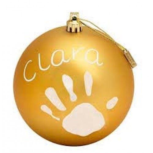 Baby Art Creative Baby Souvenirs Christmas Ball Gold