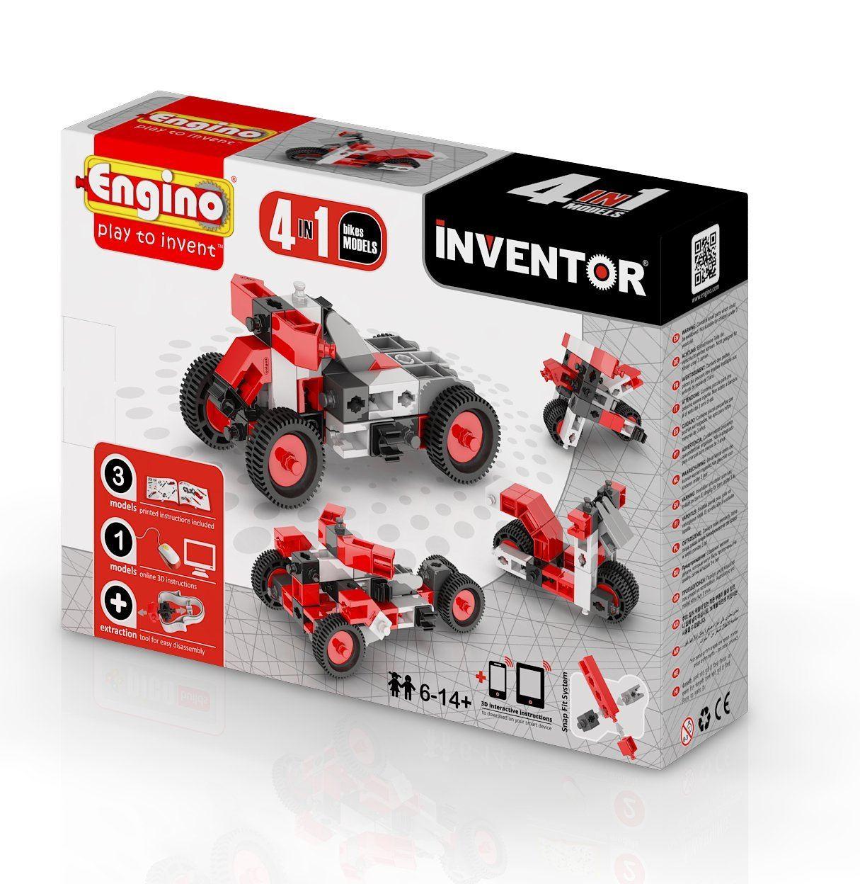 Engino Inventor 4 Models Motorbikes #0432
