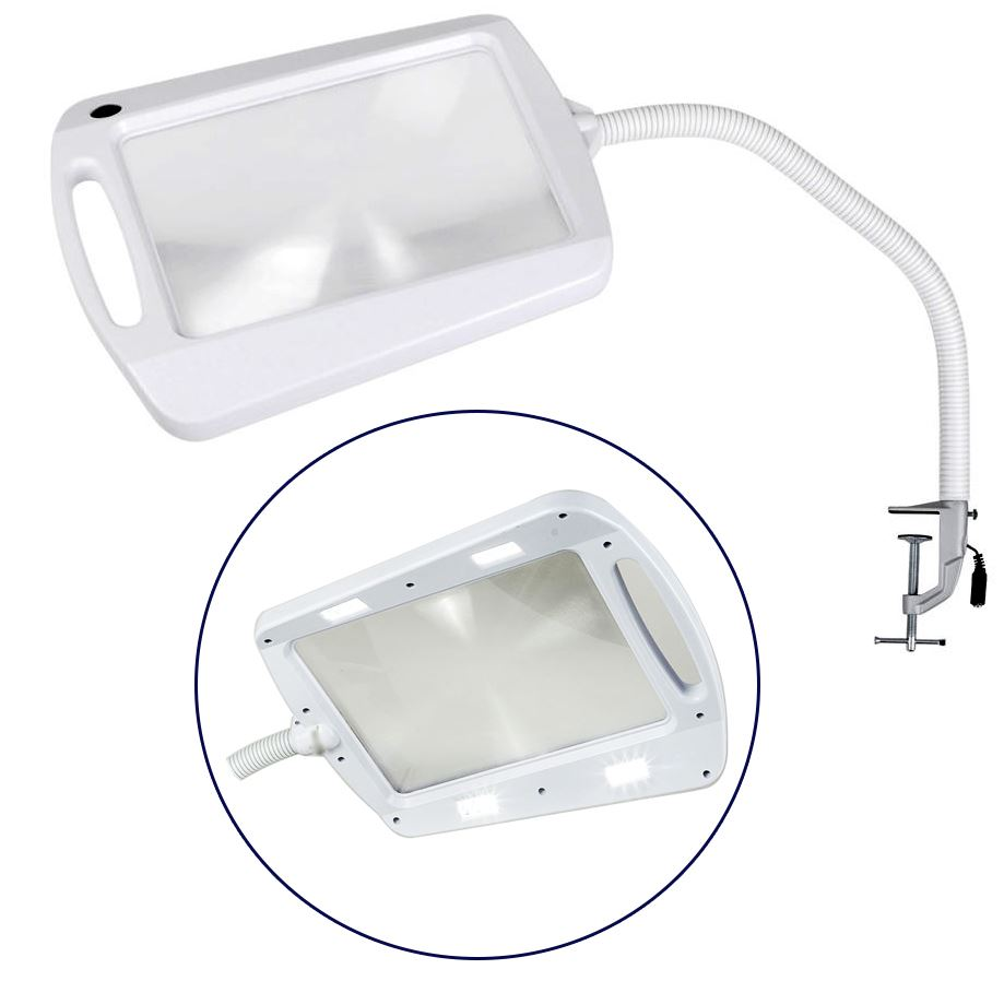 Clamp on daylight led adjustable reading hobby craft for Craft light with magnifying glass