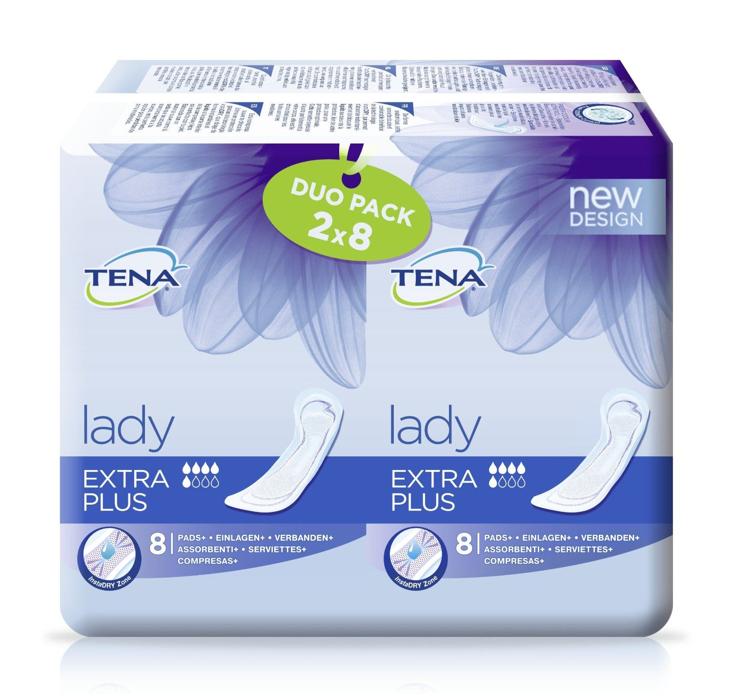 tena lady extra plus towels duo pack 6 pack ebay. Black Bedroom Furniture Sets. Home Design Ideas