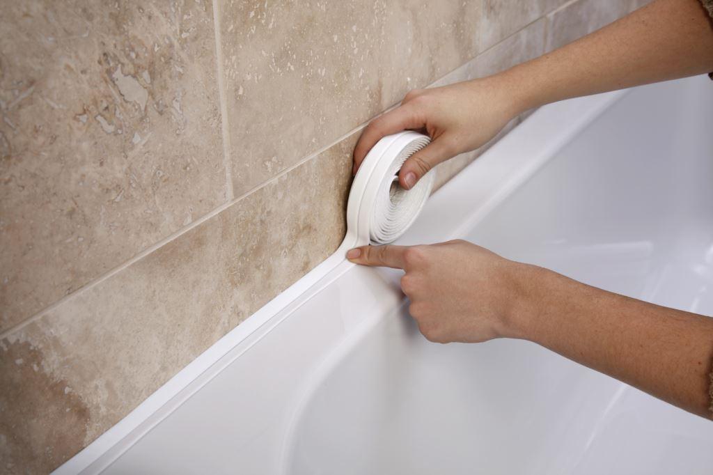 Bathroom Sink Sealant : Details about BATHROOM SHOWER SINK BATH SEALING STRIP TAPE WHITE 3.35M ...