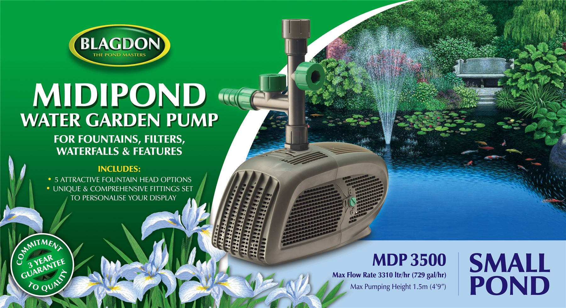 Blagdon Garden Midipond Small Pond Fountain Water Feature Water Pump 3310l Ebay