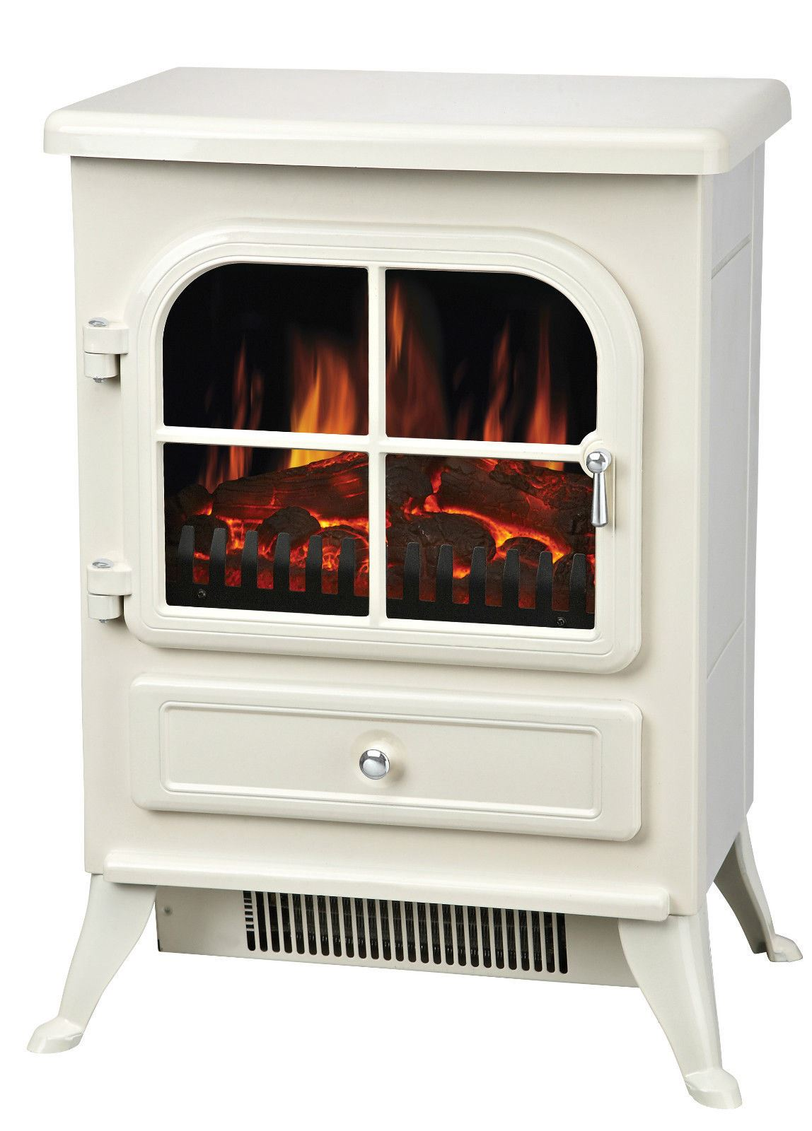 White Electric Stove ~ Manor fireplace cream white vista built in fan heater