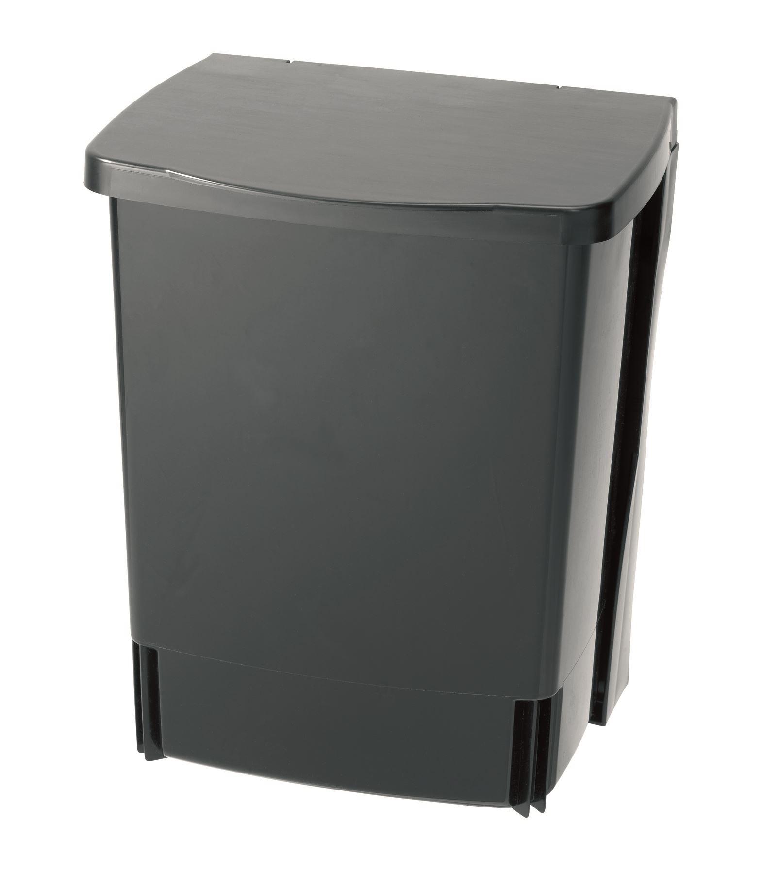 brabantia black kitchen under cupboard waste bin 10 litre. Black Bedroom Furniture Sets. Home Design Ideas