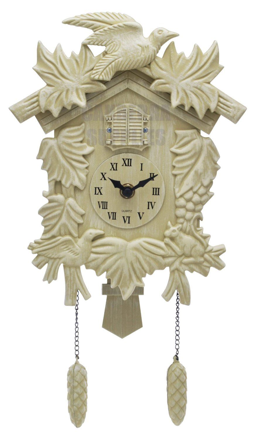 Acctim feldburg traditional style cuckoo pendulum wall clock antique cream ebay - Cuckoo pendulum wall clock ...